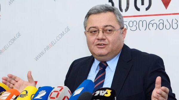 Пресс-конференция председателя парламента Грузии Давида Усупашвили - Sputnik Грузия